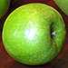 Large Green Pippin Glass Apple