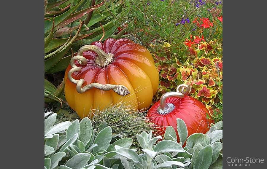 Cohn-Stone Studios Glass Pumpkin Garden