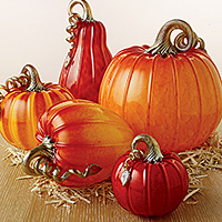 Cohn-Stone Studios pumpkins and squash are featured in Artful Home